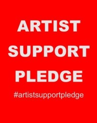 artists support pledge
